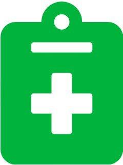 Terminvereinbarung - grünes Icon mit medizinischem Plus